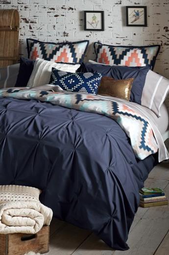 Pin Tuck Blue Bedding Blue Bedroom Colors Bedroom
