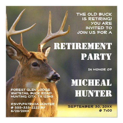 Funny Hunter Hunting Retirement Party Celebration Magnetic