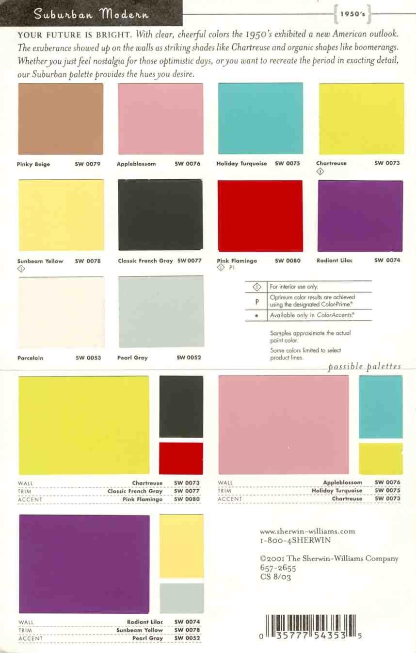 50s Colors Modern Paint Kitchen Colours Retro Color