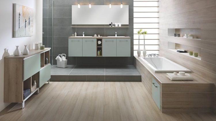 Modern Natural Bathroom With Wood Schmidt En 2019 Salle De Bains Moderne Salle De Bain Tendance Et Salle De Bain