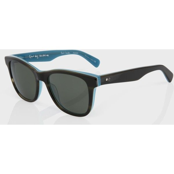654d5afbe63ac Paul Smith Olive Teal Berman Sunglasses ( 360) ❤ liked on Polyvore  featuring accessories