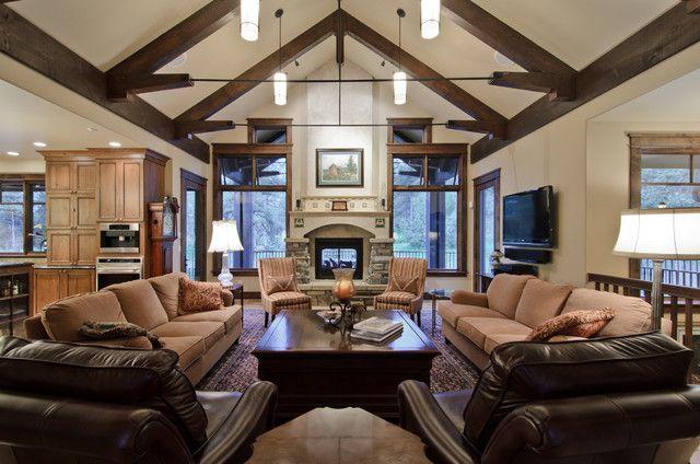 Great Living Room Furniture - Living Room Lighting Ideas Vaulted ...