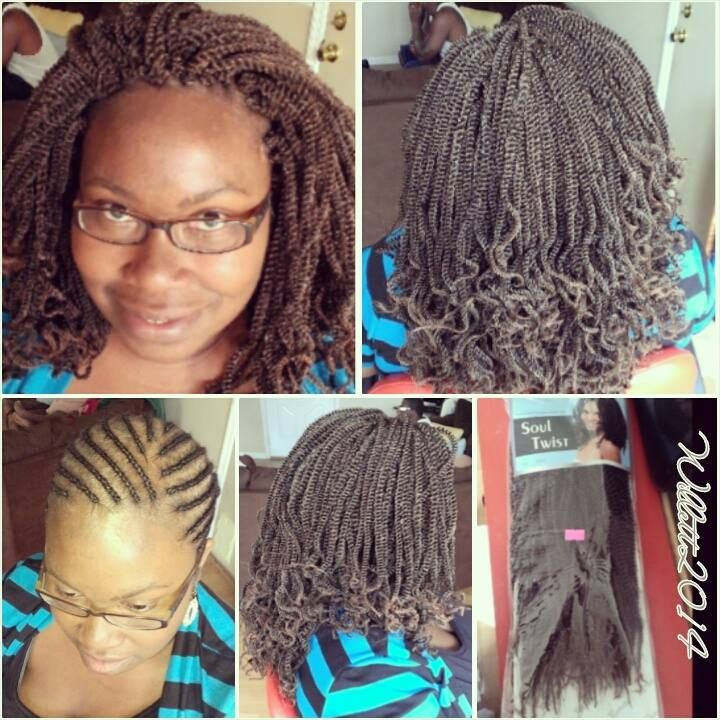 Crochet Braids Using Pre Twisted Hair With Images Crochet Hair