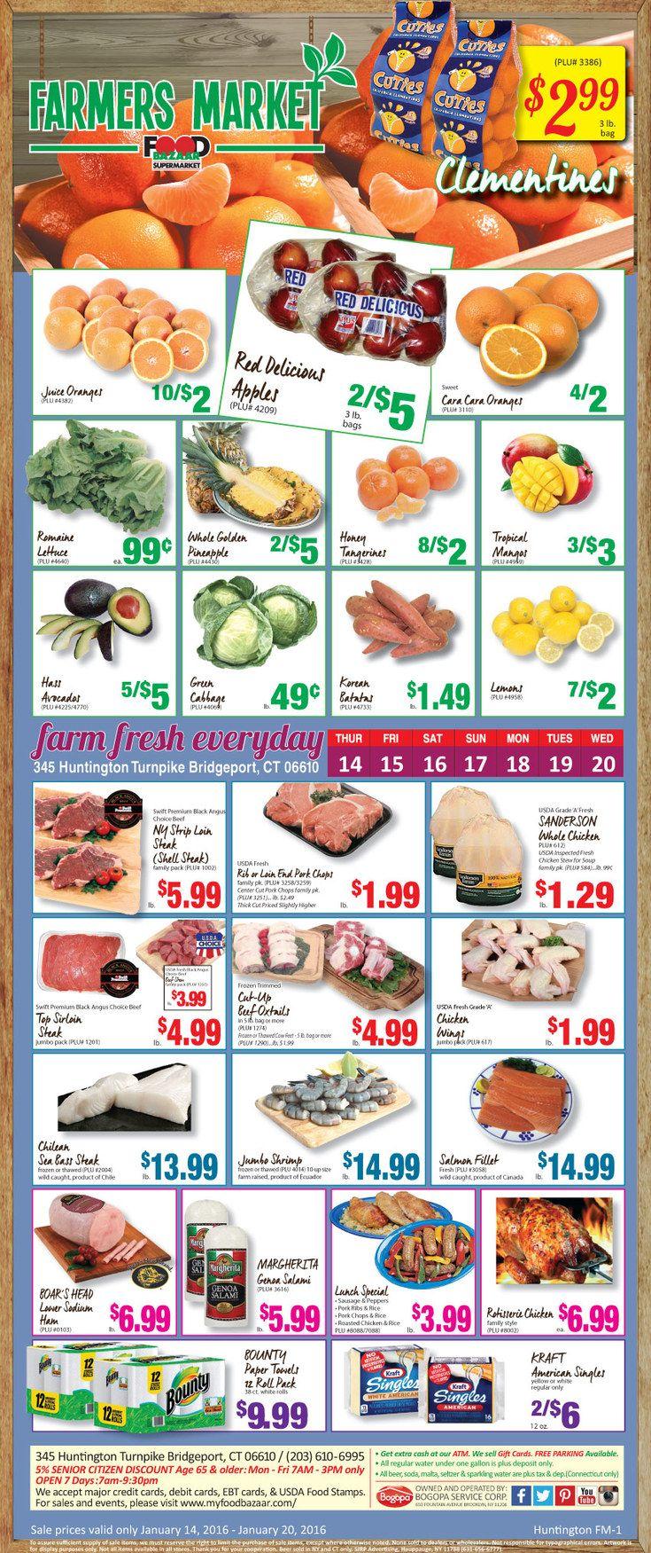 Food bazaar circular january 14 20 2016 httpwww