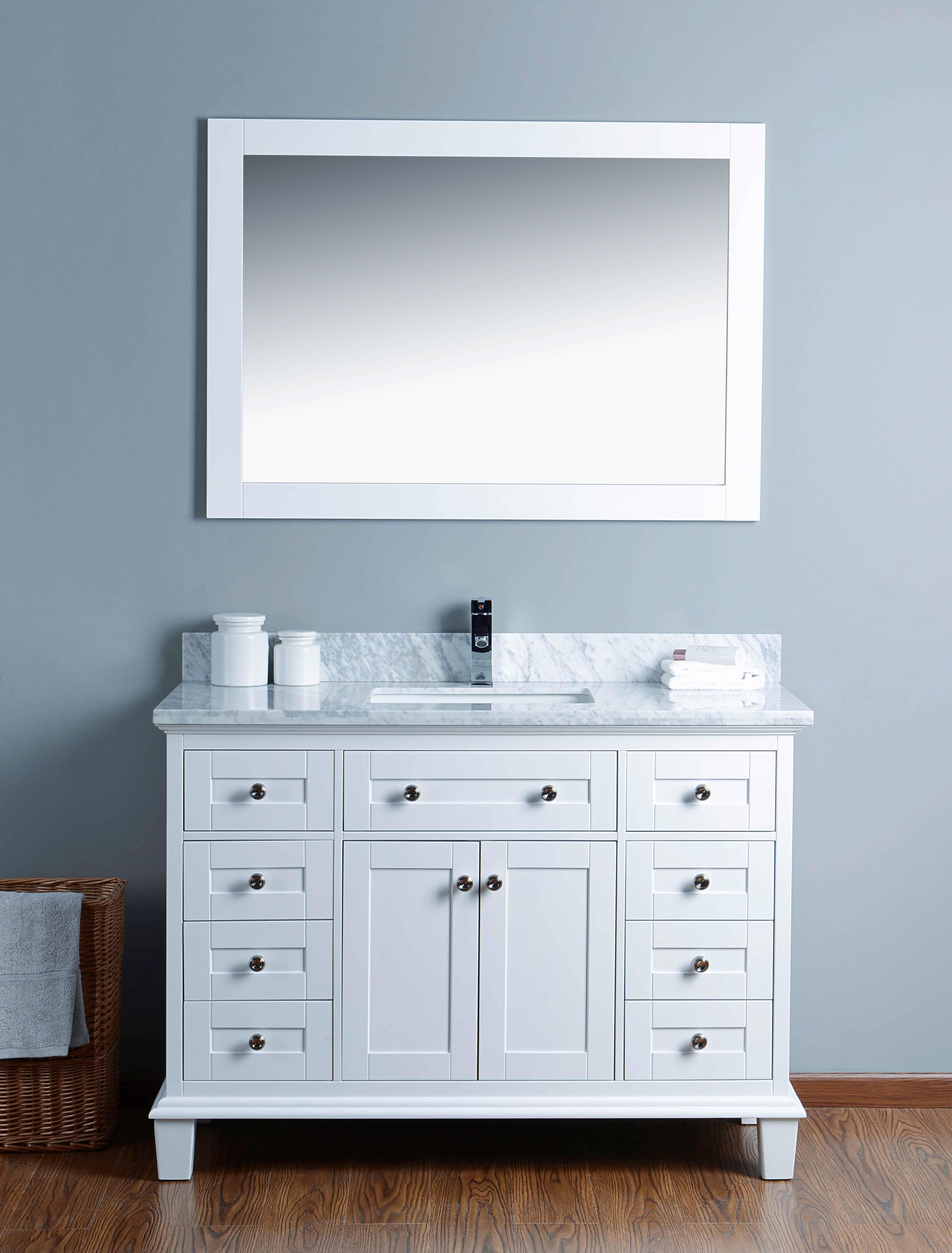 Home Design Express Mickdel Kira City 48 Inch White Vanity Set Homedesignexpress