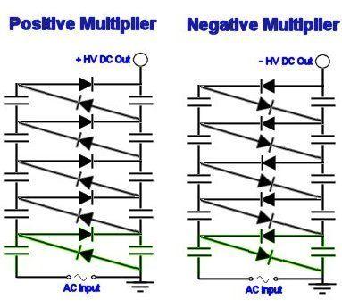 Voltage multiplier circuit diagrams electronics pinterest on circuit diagram voltage multiplier Air Ionizer Diagram AC Voltage Multiplier Circuit