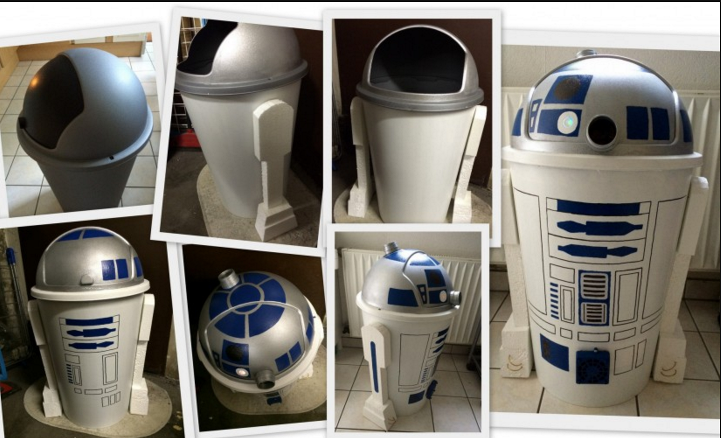 R2 D2 Mulleimer Selbst Gemacht Star Wars Lampe Star Wars