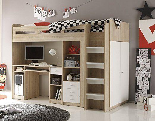 ein tolles hochbett für jugendliche. das bett gefällt garantiert, Hause deko