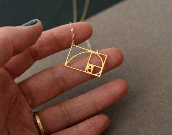 Photo of Mini Fibonacci Halskette Fibonacci Schmuck Golden Ratio Halskette Mathe Geschenk unter 50 Geschenk für sie