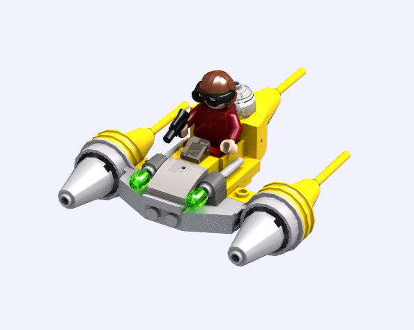 Microfighter Naboo Starfighter | Lego and Lego building