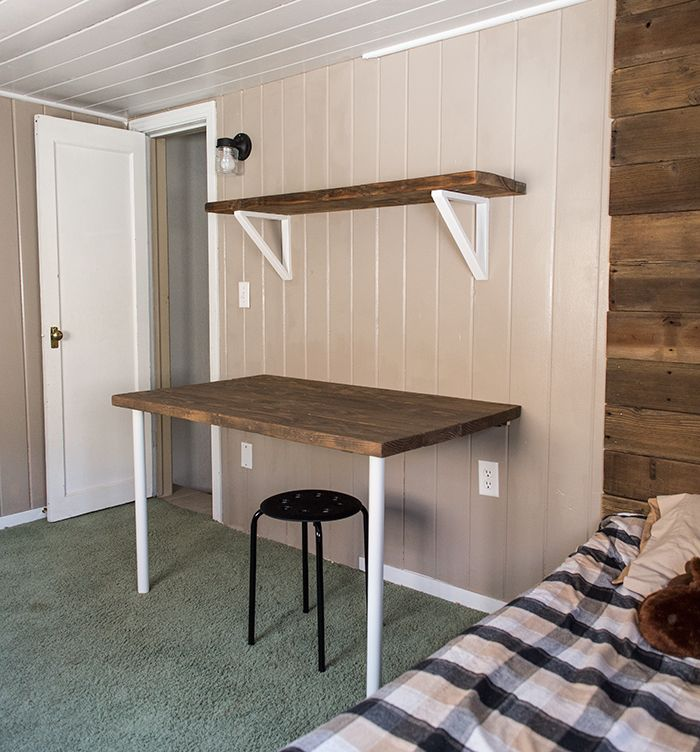 Simple Diy Wall Desk Shelf Brackets For Under 23 Wall