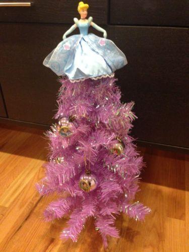 Disney Princess Christmas Tree With Princess Ornaments Topper Purple Box 4pics Ebay Christmas Tree Christmas Disney Christmas