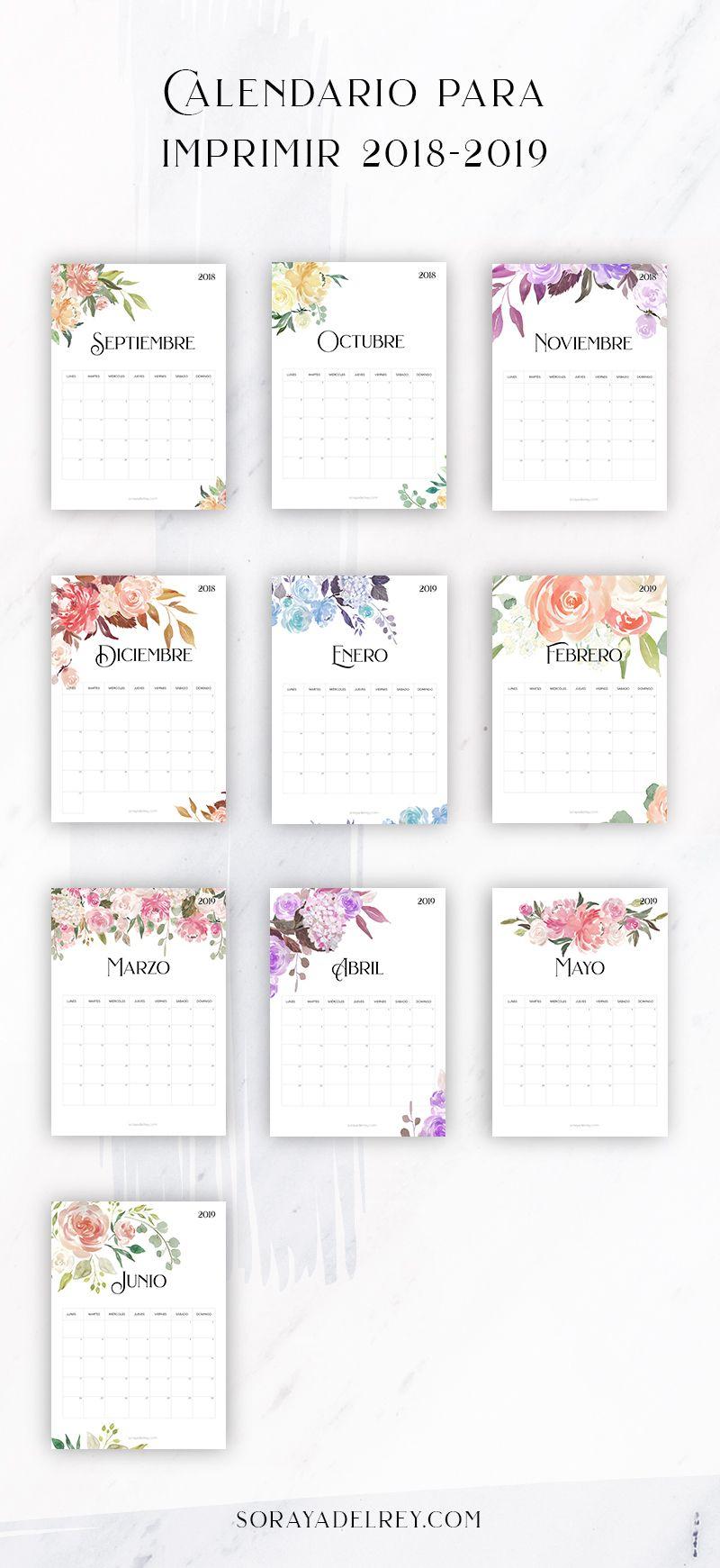 Calendario Mr Wonderful 2019 Para Imprimir.Calendario Para Imprimir 2018 2019 Reciclaje