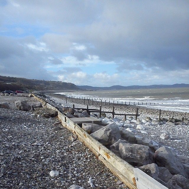 Llandulas Beach in Abergele. Annual sponsored walk along here with 'kiss' crazy nights on my Walkman.