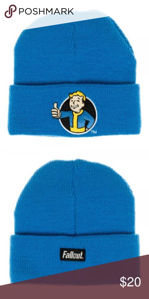 Fallout Vault Boy Blue Beanie Hat Thumbs Up Blue Beanie Hat Blue Beanie Beanie Hats