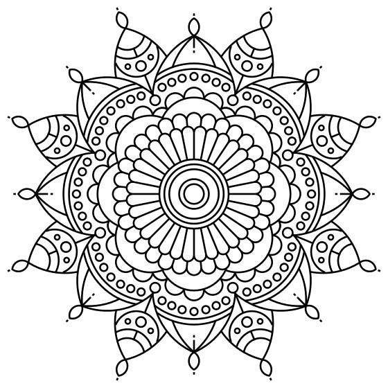 Printable Intricate Mandala Coloring Pages, Instant ... | free printable mandala coloring pages for adults easy