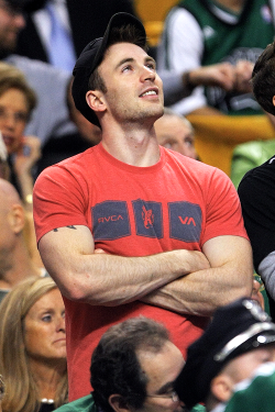mcavoys:  Chris Evans seen at the Eastern Conference Semifinals NBA basketball game at the TD Garden on May 13, 2010.