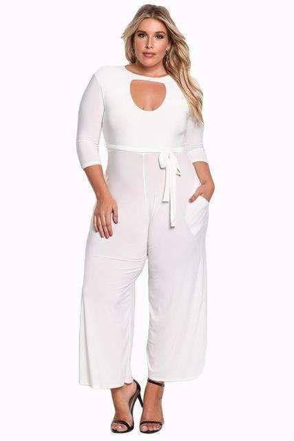 6f2caf82aa1 Aletterhin 2018 Long Pants Autumn 3/4 Sleeve Rompers Womens Plus ...
