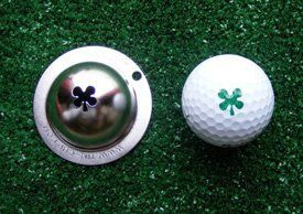 Tin Cup Luck of The Irish Golf Ball Marking Stencil, Steel by Tin Cup. $17.99. New Tin Cup Golf Ball Custom Marker Alignment Tool.The Tin Cup TM Personal Imprinting System is a revolutionary new technique for golfers to mark/imprint their golf ball. The system allows a golfer to create a personalized ball using the logo or design of their choice.There are a number of logos already available. These are wonderful gift items or tournament giveaways.. Save 10%!
