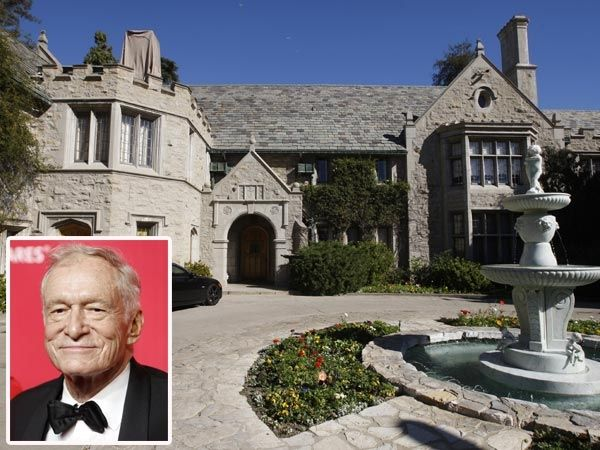 10 of the most expensive celebrity homes hugh hefner 54 million. Black Bedroom Furniture Sets. Home Design Ideas