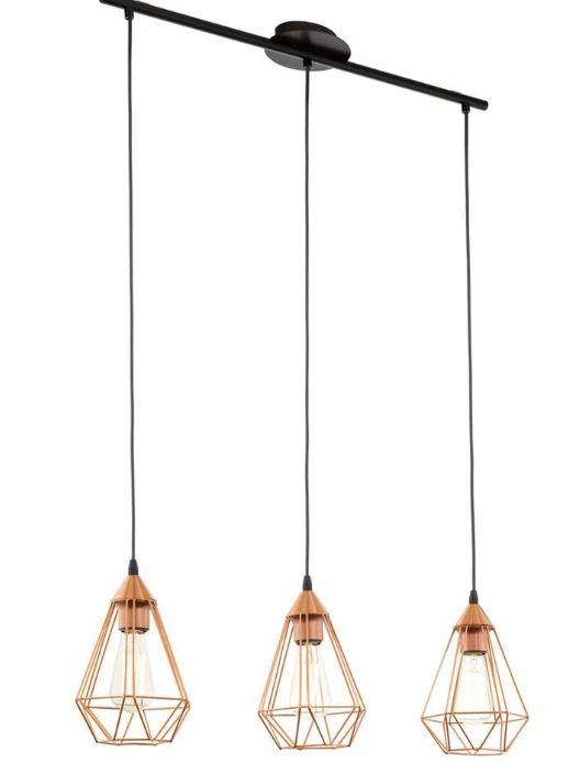 EGLO hanglamp Tarbes 3 - koperkleur http://www.leenbakker.be/nl ...