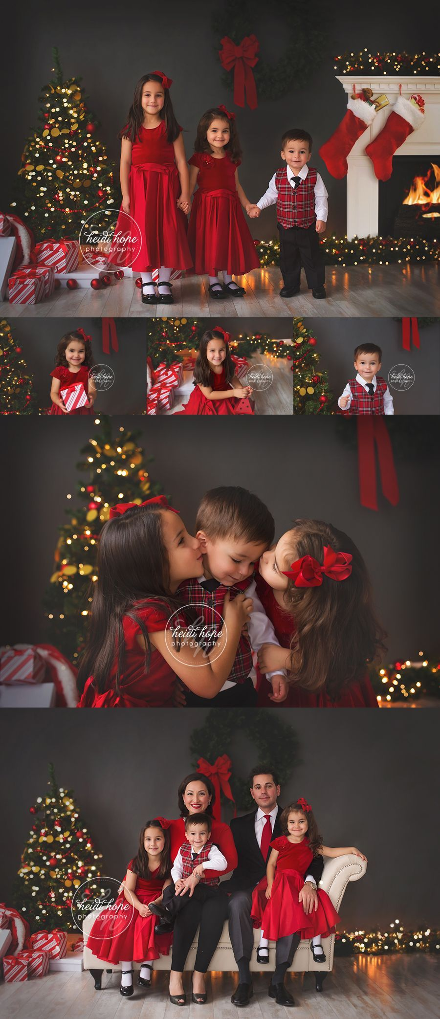 Christmas portraits in the studio by rhode island family