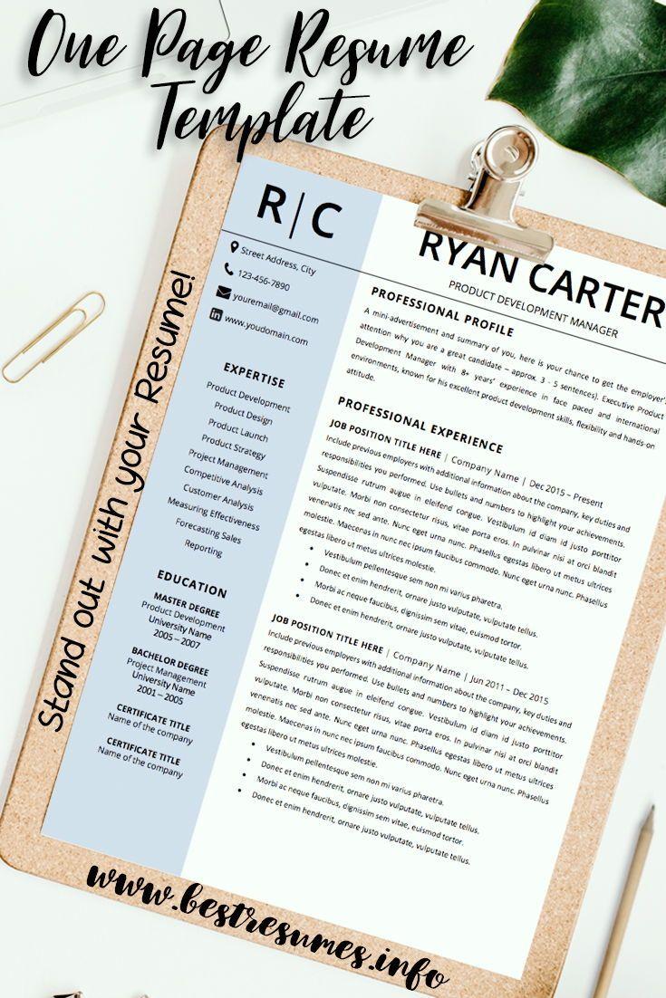 Modern Resume Template Ryan Carter Business resume