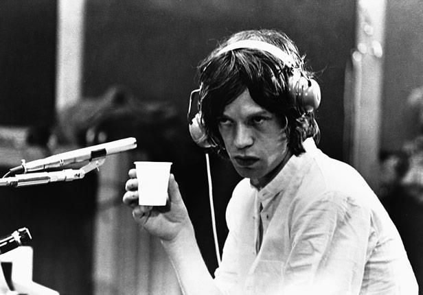 Mick Jagger  and a coffee