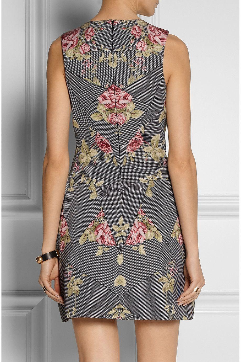 McQ Alexander McQueen|Printed cotton-blend faille dress|NET-A-PORTER.COM