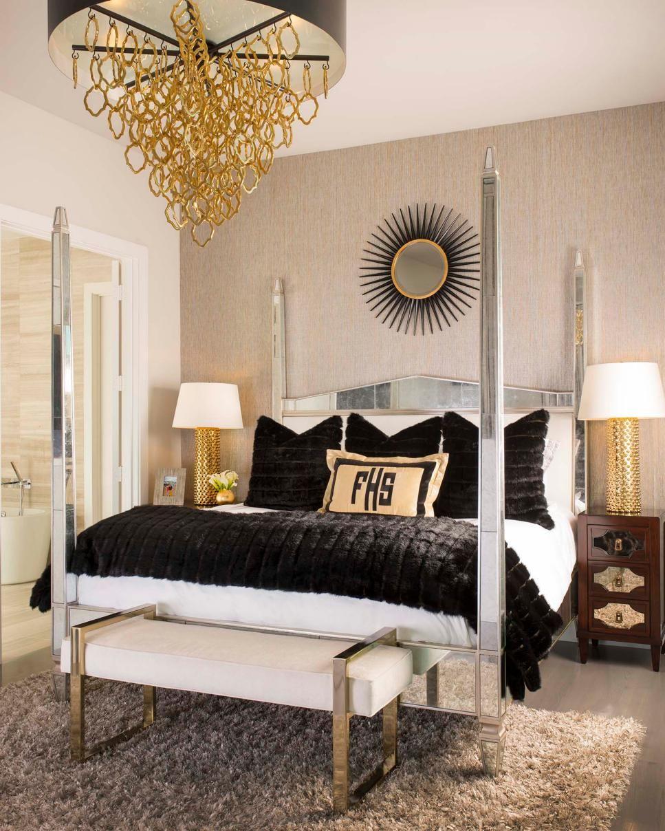 Metallic, Midcentury Modern Master Bedroom (With images ...