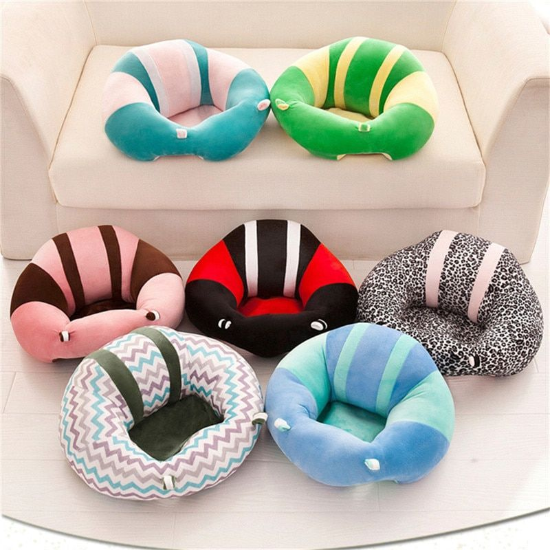 Soft Plush Animal Shape Baby Support Seat Sofa Baby Learn Sit Chair