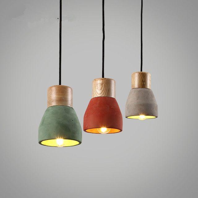 Nordic Design Moderno Lampada a Sospensione di Cemento di
