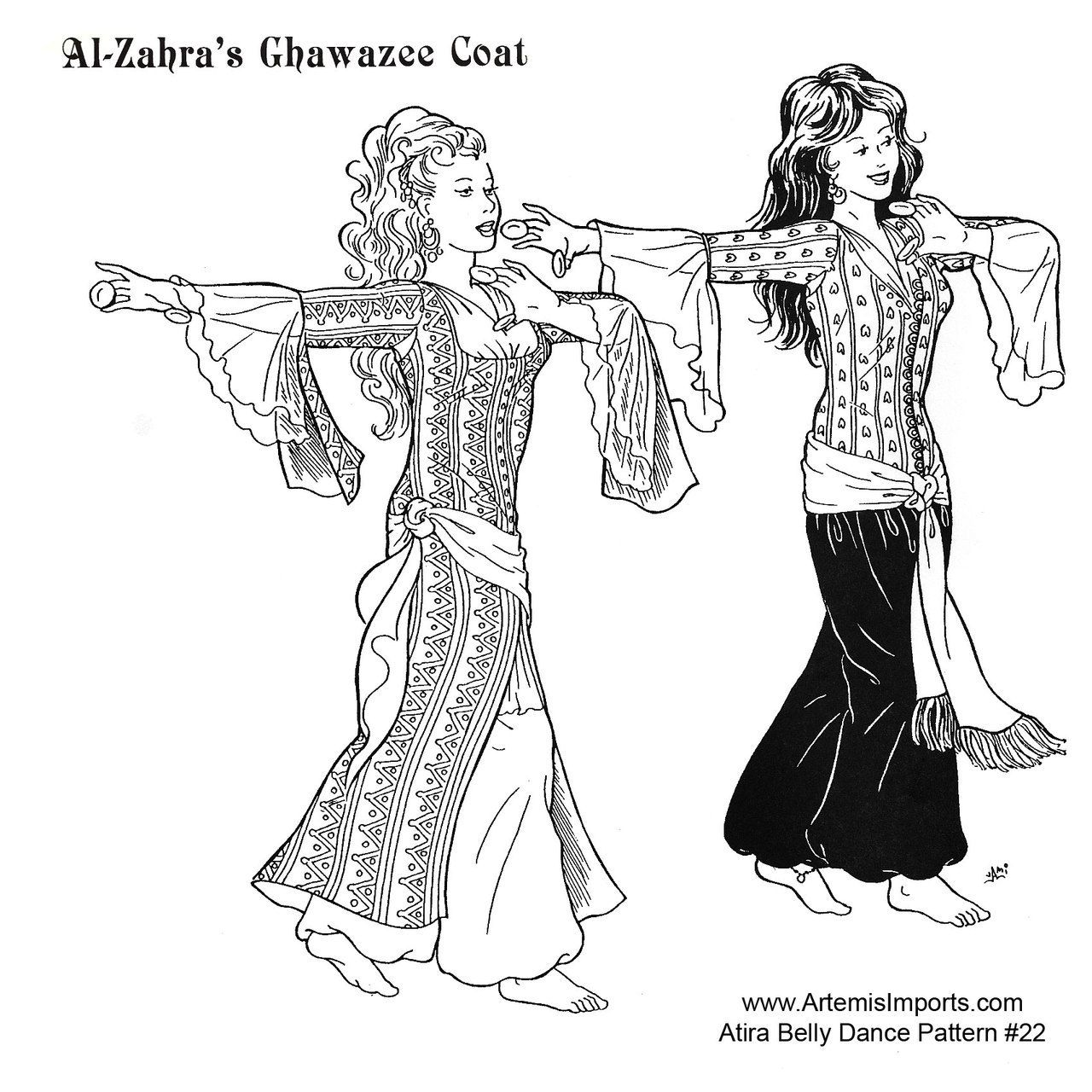 Belly Dance Pattern #22 - Al-Zahra\'s Ghawazee Coat by Atira ...