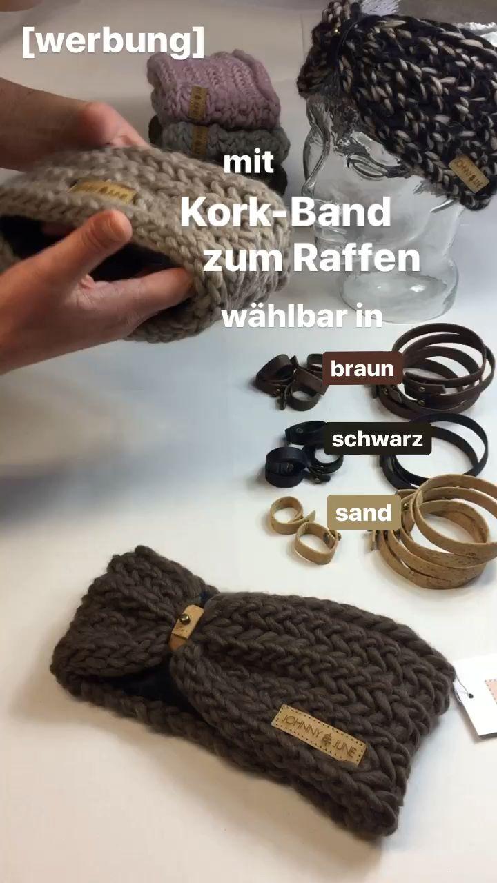 Photo of Stirnband mit Applikation im Korkleder-Turban-Look von @johnnyundjune