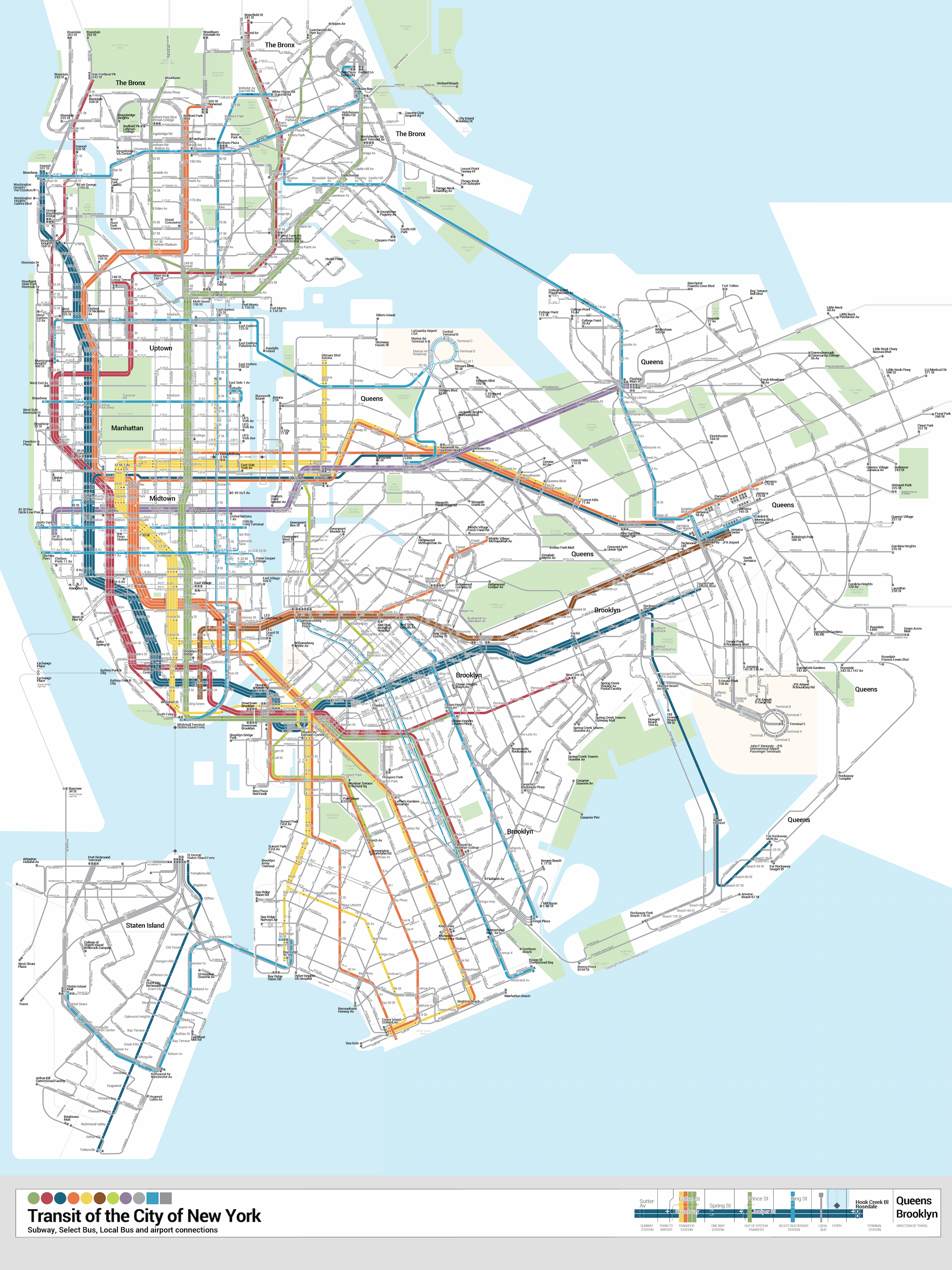 Second Avenue Subway Map New York City.Nyc Trans Buses And Subways Together Bulletmap Info Map Nyc