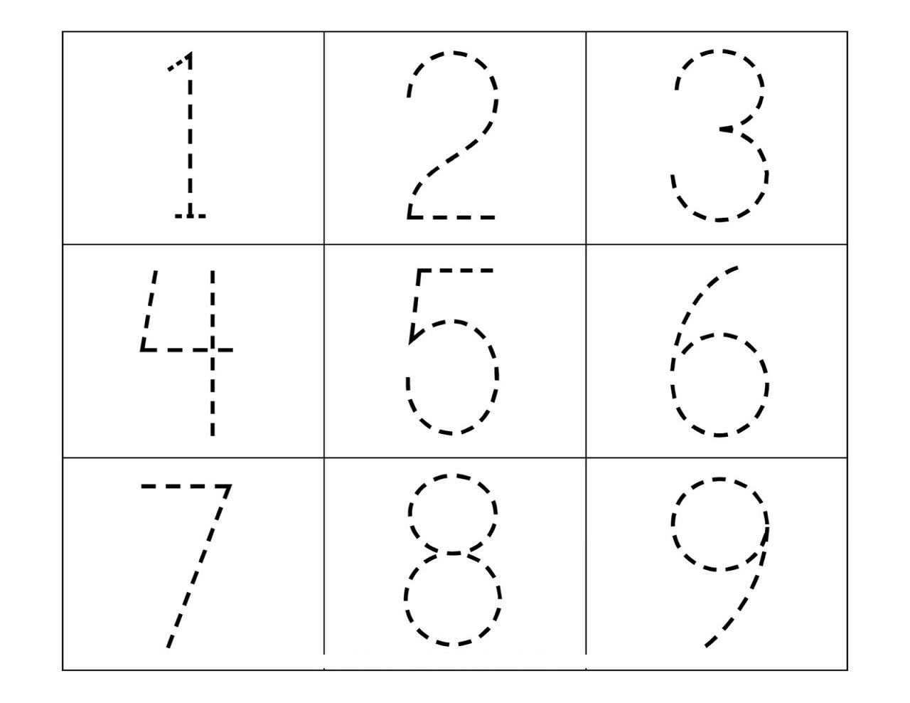 Worksheet Dotted Numbers
