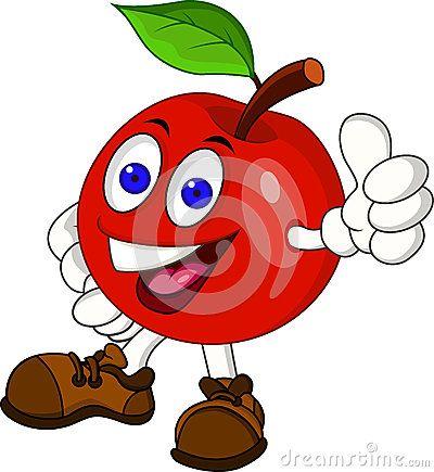 Personaje De Dibujos Animados Rojo De La Manzana Dibujos Animados Dibujos Animados Personajes Dibujos