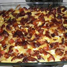 amish breakfast casserole.  This I make at least once a month as the grandchildren love it.  Thank you lovely Amish cooks!   #TheImposterSWF