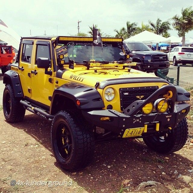 """Over flow from #willyswednesday A New Willys  _________________________________ Sent in by @4x4underground """"Buen look! extra clean!! Amarillo #jeep , , #4x4 #offroad #summer #swag #puertorico #jeeplife #jeepbeef #jeepthings #jeepsummer #jeepbeef_pr _________________________________ www.jeepbeef.com #Padgram"""