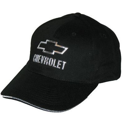 d7ed34bacbf Chevy Hat features a 3D chrome Chevy Bowtie logo and the word Chevrolet on  the frontThe Chevrolet logo is applied on the Velcro closure. Available in  Black ...