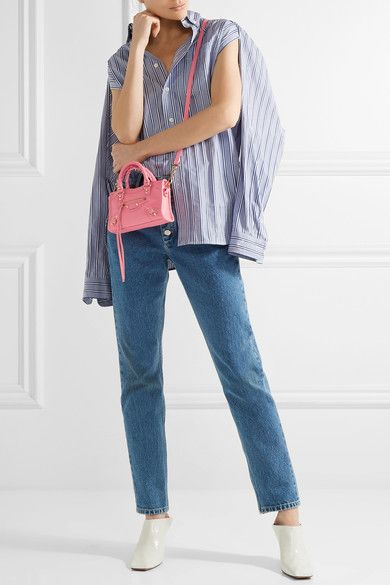 b4a079dd2c Balenciaga | Classic City nano texured-leather shoulder bag |  NET-A-PORTER.COM