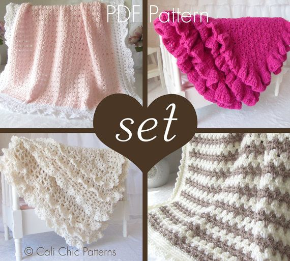 a0656adab875f 4 PATTERN SET - Top Crochet Sellers - 41, 49, 58 and 89 - Baby ...