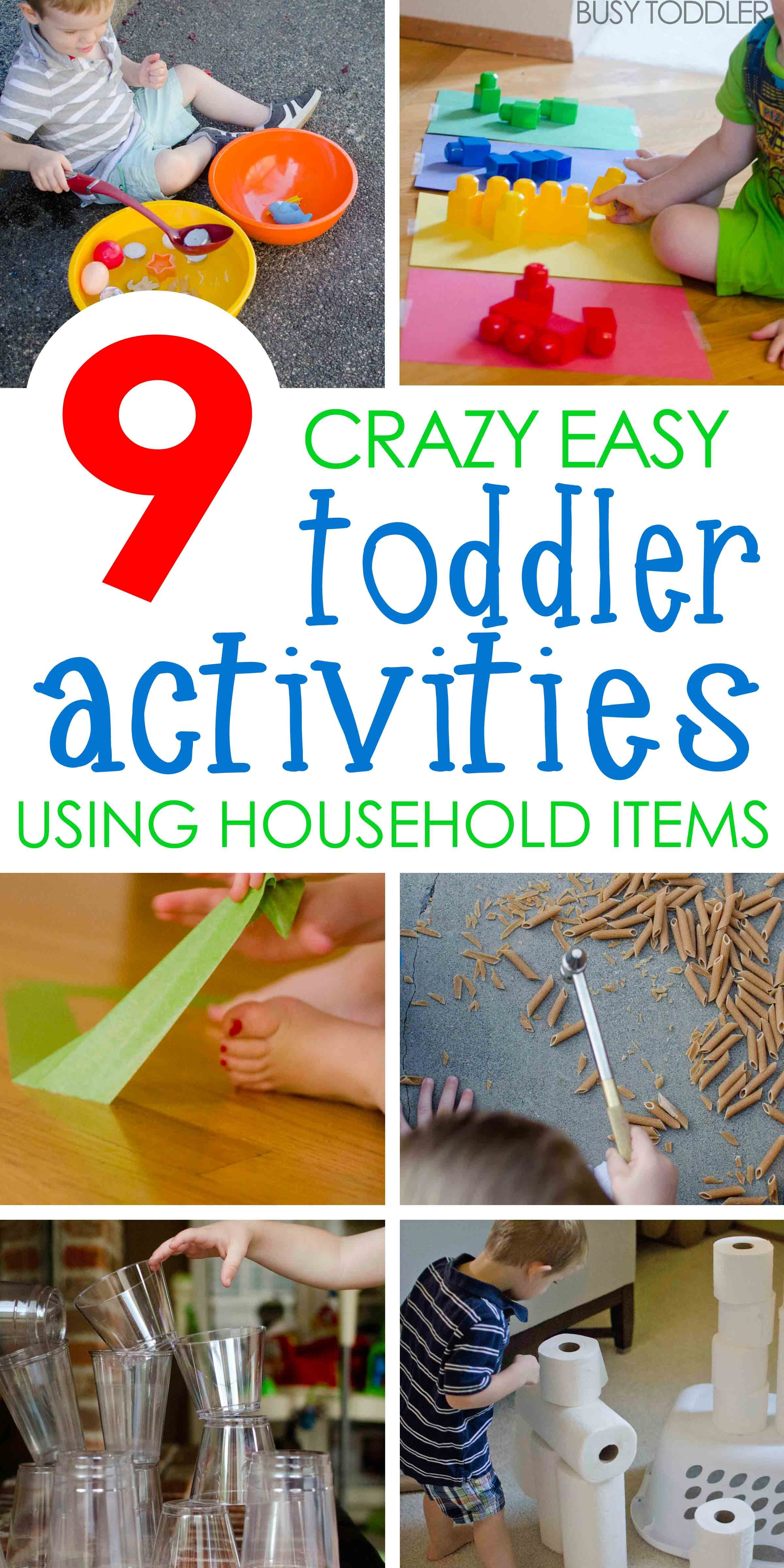 9 Quick & Easy Activities | Household items, Household and Activities