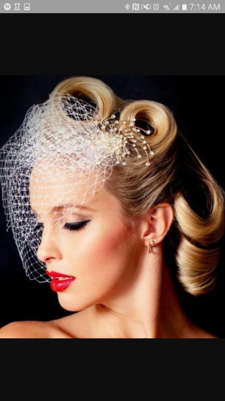 Victory Roll Updo Wedding Makeup Vintage Vintage Wedding Hair Retro Wedding Hair