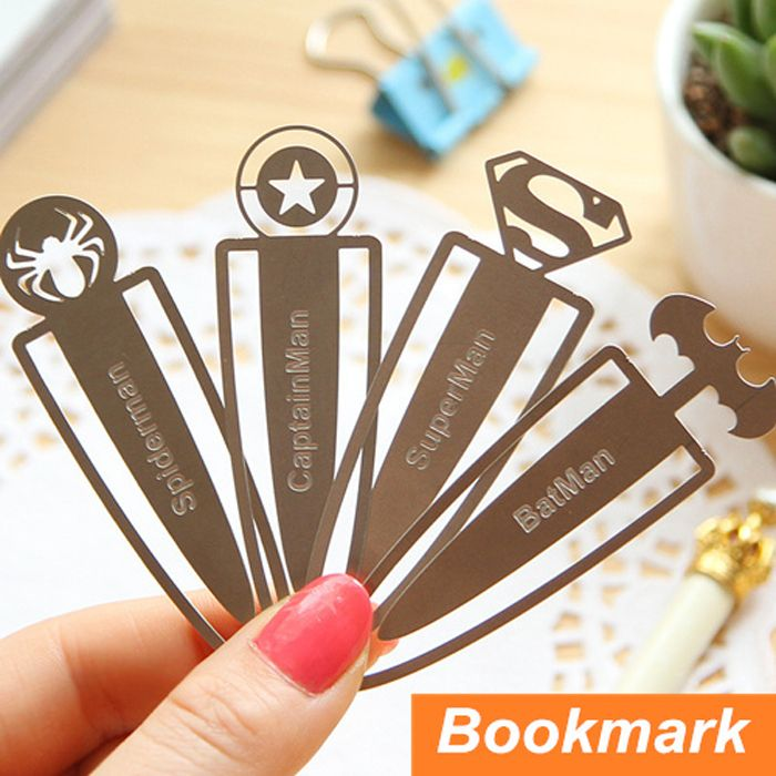 Nice Bookmarks For Books Part - 4: 12 Pcs/Lot Novelty Metal Bookmarks For Books Kids Paper Clips Book Marker  Stationary Office