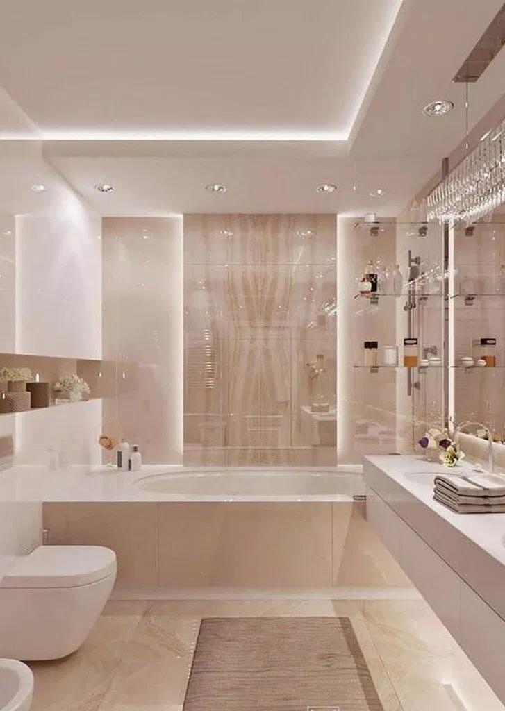 75 Lovely Master Bathroom Remodel Ideas 21 Di 2020 Ide Kamar Mandi Dekorasi Rumah Dan Desain Interior Modern