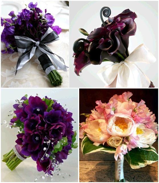 marine and plum Flower Centerpieces | Eggplant Dresses What color ...