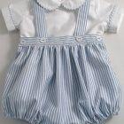 Oxford Stripe Baby Romper Suit