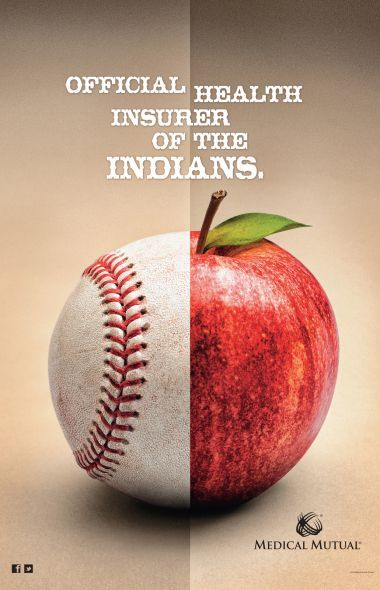 Cool new campaign from the Cleveland Indians' health insurance sponsor.