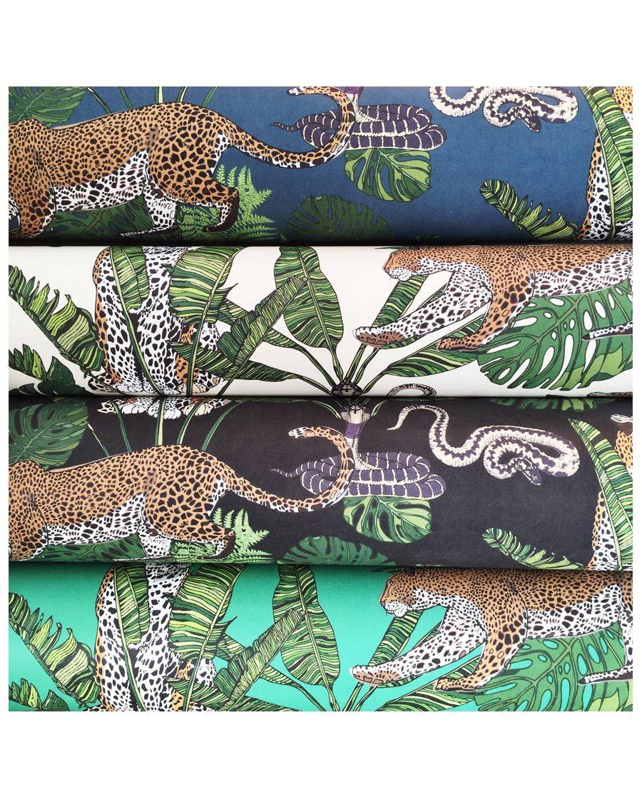 Jungle Leopard Snake Cream Wallpaper in 2020 Wallpaper